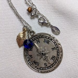 American Eagle Outfitters Compass Necklace
